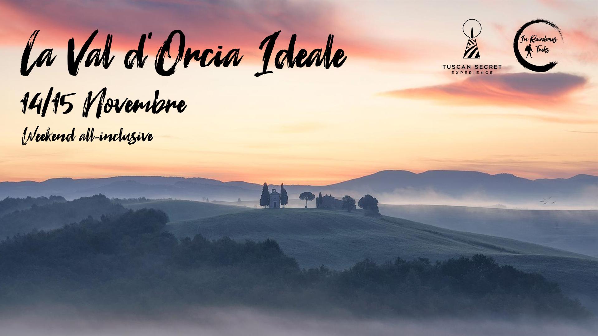 """""""La Val d'Orcia Ideale: Il Weekend di Trekking, Arte e Fotografia"""" dal 14 al 15 Novembre."""